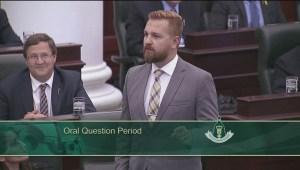 Raw: Premier Wynne in Alberta legislature