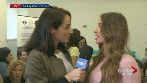 The Bachelor's Vanessa Grimaldi visits special-needs students in Montreal