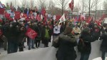 Montreal's largest teacher's union protest budget cuts