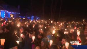 Family of boys murdered in Alberta speak out at emotional vigil