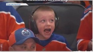 Video of excited young Edmonton Oilers fan goes viral