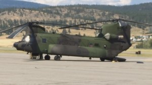 Military helicopter makes unscheduled landing at YLW
