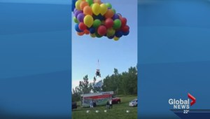 Police lay charges in dangerous balloon chair Stampede stunt