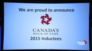Inductees of 2015 Canada's Walk of Fame announced