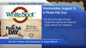 White Spot's Pirate Pak Day raises funds to help kids at Zajac Ranch