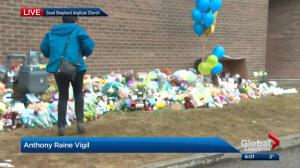 Edmontonians gather at vigil for toddler found dead next to church