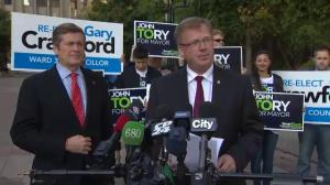 Councillor Gary Crawford throws his support behind John Tory