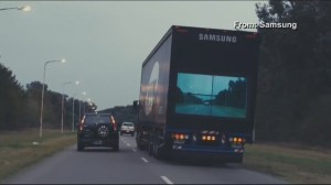 Samsung creates 'transparent' truck to make roads safer