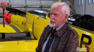 Aviation museum volunteer director Don Macpherson