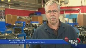 Okanagan College shows off revamped trades facilities