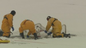 Ice rescue skills put to the test