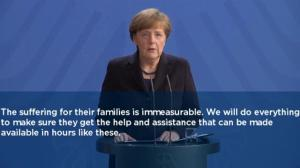 Chancellor Angela Merkel addresses the German people on Germanwings crash