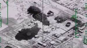 Russian airstrike footage shows destruction of oil refinery operated by ISIS