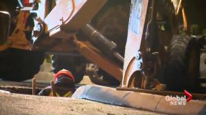 Early morning watermain break prompts clean-up in North Vancouver