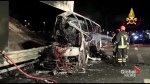 Aftermath of fiery bus crash that killed 16 Hungarian teens