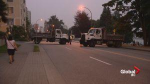Trucks block West End roads ahead of Celebration of Light fireworks