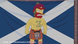 The Simpsons' Groundskeeper Willie makes the case for Scottish Independence