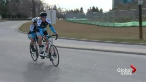 Calgary cyclist overcoming huge obstacles