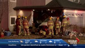 Car crashes into house in Auburn Bay
