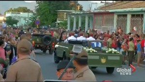 Fidel Castro's ashes taken to cemetery as crowds bid final farewell