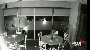 Calgary restaurant catches fire in surveillance footage released by police