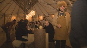 Pop up restaurant a hit with cool diners