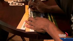 Edmonton Eskimos autograph session