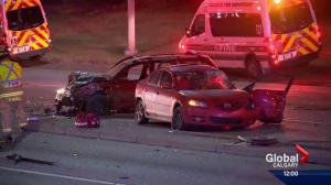 5 people sent to hospital after head-on collision in northeast Calgary