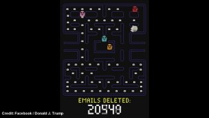 Donald Trump Pac-Man game uses Hillary Clinton head 'deleting' emails
