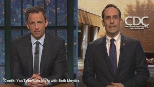 Seth Meyers pokes fun at Ebola fears in U.S.