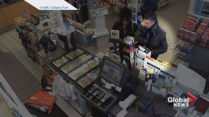 Poppy donation box thief caught on camera at Calgary gas station