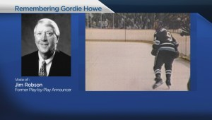 Hockey commentator Jim Robson shares memories of Gordie Howe