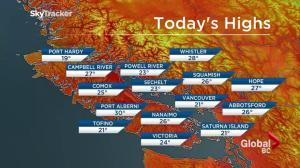 BC Evening Weather Forecast: Aug 23
