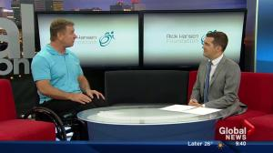 Canadian hero Rick Hansen stops by the Weekend Morning News