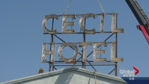 Cecil Hotel sign saved as hotel prepares to comedown