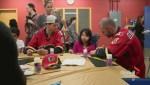 Flames visit Alberta Children's Hospital