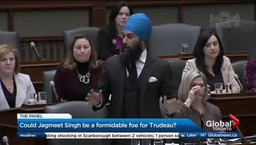 Jagmeet Singh launches bid for NDP leadership