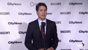 Liberal leader Justin Trudeau answers question on youth involvement in politics