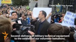 Protesters Demand Support For Embattled Troops In Eastern Ukraine