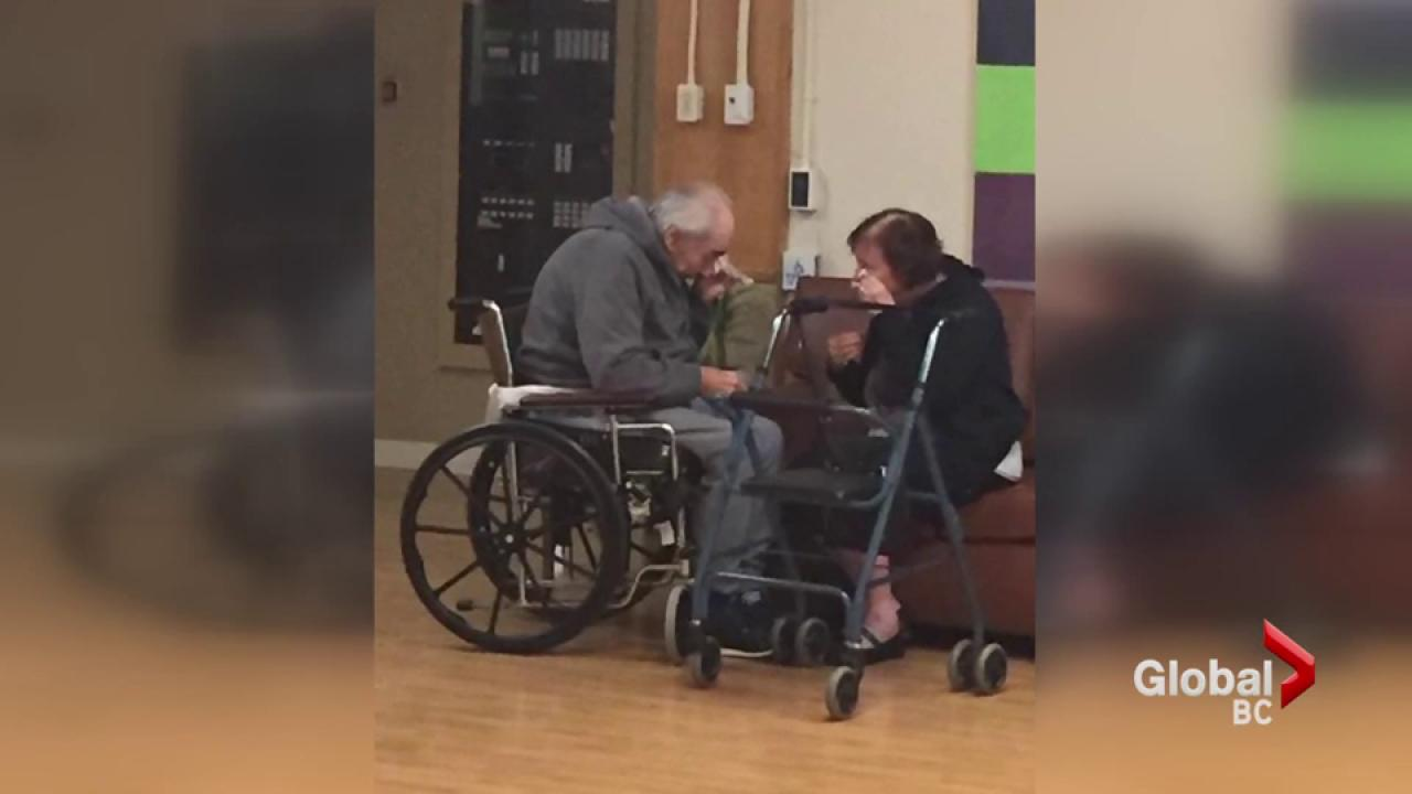 Elderly Canadian couple reunited after viral photo of separation