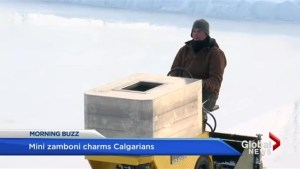 Calgary man makes a mini zamboni