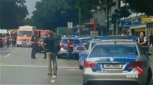 Aftermath of deadly stabbing attack in Hamburg, Germany
