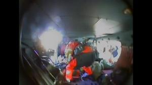 Raw video: Bear attack victim airlifted to hospital in Alaska