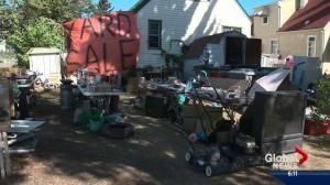 Edmonton residents fed up with ongoing yard sale