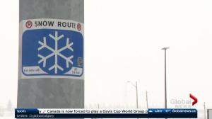City of Calgary announces snow route parking ban