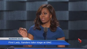 First Lady, Sanders headline DNC opener