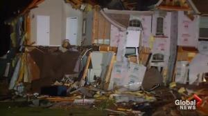Houses destroyed in aftermath of tornado in Texas