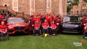 Prince Harry meets with UK Invictus Games team at Tower of London