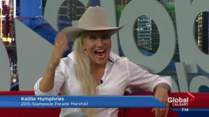 Kaillie Humphries is the 2015 Stampede parade marshal