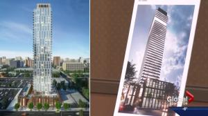 Edmontonians get peek at new high-rise proposed for downtown core
